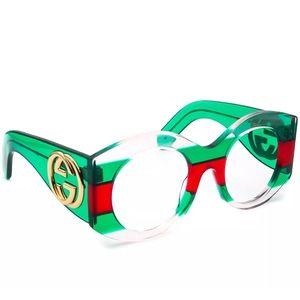 NWT Authentic Gucci Oversized Tricolor Sunglasses